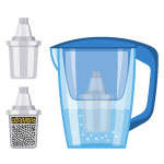 Pitchers and countertop filters icon
